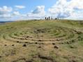 Des pierres en spirale au sommet du Belchen