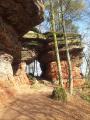 """L'Altschossfelsen ou """"rochers du vieux château"""" d'Eppenbrunn"""