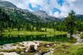 Lac Vert et Lac de Limo depuis le refuge Pederu
